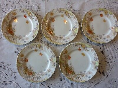 BRIDGWOODS CHINA ENGLISH ANTIQUE SIDE PLATE X 5 17.5 cm 'GLEN' PATTERN FREE POST