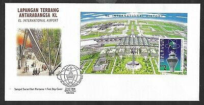 (FDC98011B) MALAYSIA 1998 KL International Airport M/S First Day Cover FDC