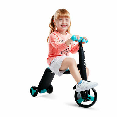 Foldable Kids Trike Bike Baby Toddler Tricycle Bike Canopy Parent Push
