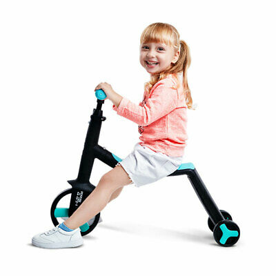Deluxe Foldable Kids Trike Baby Toddler Tricycle Bike  w/ Canopy Parent Push