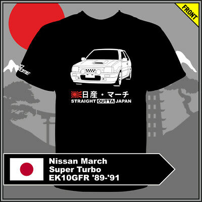 T-shirt Nissan March Super Turbo EK10GFR '89-'91