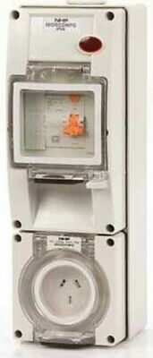 Iso SOCKET WITH RCD 500V 5-Pin Round, Surface Mount, Grey- 10A Or 20A