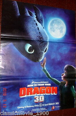 HOW TO TRAIN YOUR DRAGON 3D ORIGINAL  MOVIE POSTER  27inch X 37 inch INDIA