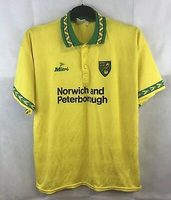 Norwich City Home Football Shirt 1994/96 Adults XL Mitre