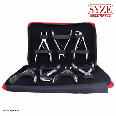 Tooth Extraction Exodontia Forceps Kit Upper and Lower Molars Surgical Dental CE