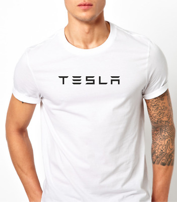 Tesla motor Model X S 3 T Shirt logo letters printed Mens Short Sleeves size s m