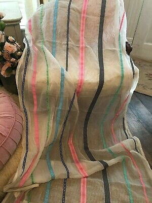 6cb4832d89 ~Lovely Pottery Barn Teen 44X84 Ribbon Embellished Girls Tie Top Curtains~