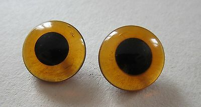 1 paire yeux ours verre brun 16mm-peluche-doudou-teddy bear animal glass eyes