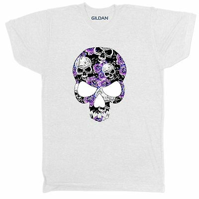Floral Skull Skeleton Tumblr Urban Retro Vintage Festival Mens 2Xl 5 T Shirt