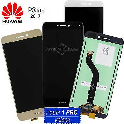 LCD DISPLAY + TOUCH SCREEN per HUAWEI P8 LITE 2017 PRA-LA1 LX1 LX3 Schermo Vetro