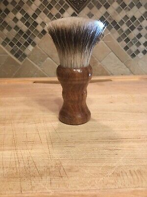 Silvertip Badger Shave Brush -30mm Fan Knot - Mesquite Wood Handle Handmade
