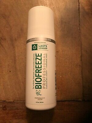 BioFreeze Professional Roll On 3 fl oz ( Colorless) Brand New Sealed R$20.95