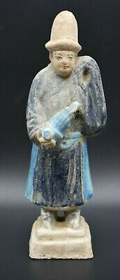 Chinese Ming Dynasty terracotta musician C. 16th century AD