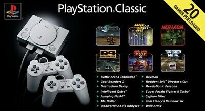 Sony PlayStation Classic Console with 20 Games Preloaded - Grey *New*