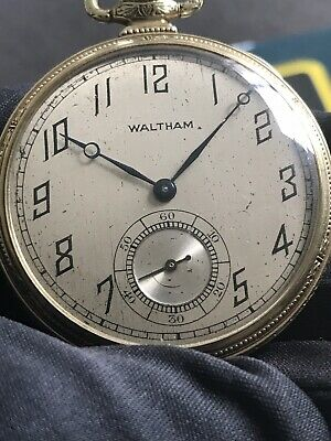 Pocket Watches 56.6mm Antique Antique American Waltham Gold Filled Pocket Watch 17jewels Big Size!