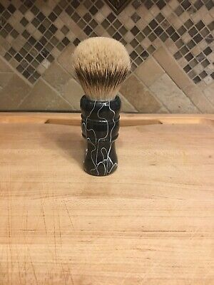 Silvertip (1st Class) Badger Brush With Ghost Trails Gray Acrylic Handle 24mm