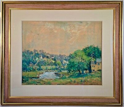 Listed American Artist Arthur Clifton Goodwin (1866-1929) Signed Pastel Painting
