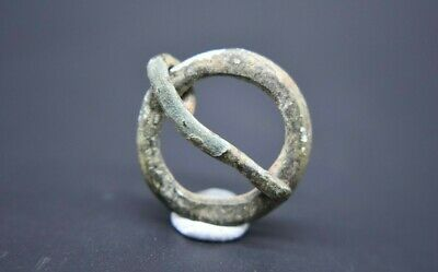 Medieval bronze ring brooch with pin C. 15th century AD