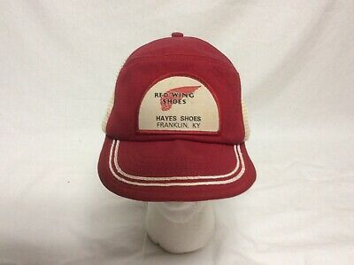 Vintage Red Wing Shoes Snapback Trucker Hat Patch Cap  Made In USA