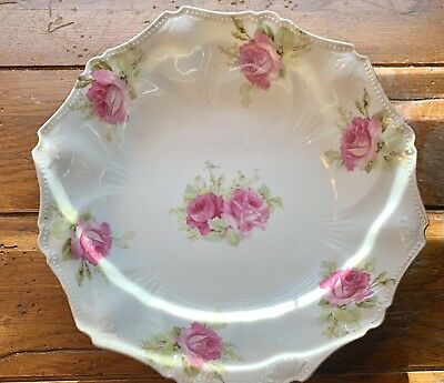 Antique R S Prussia 12 Point Scalloped Serving Bowl Circa 1890-1910