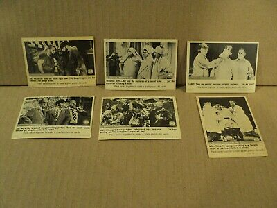 Lot of 6 Three Stooges 1966 Fleer Trading Cards  24 26 34 35 55 63