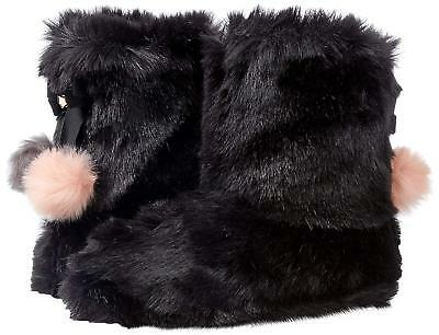 18f6187643e3 TED BAKER WOMENS Hamond Faux Fur Bootie BOOT Slippers BLACK SIZE 10 ...