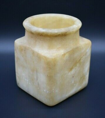 Ancient Bactrian alabaster stone vessel C. 500 BC