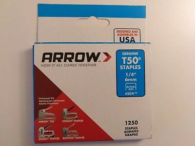 Arrow T50 Staples |  Universal Fit Heavy Duty Staple Clip Tack for Stapler Gun