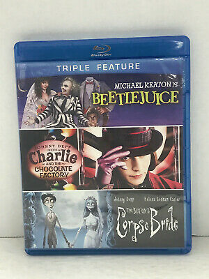 Beetlejuice / Charlie And The Chocalate Factory / Corpse Bride (Blu-ray)