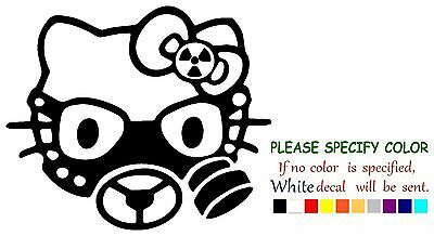 bf02bcdb5 HELLO KITTY GAS MASK ZOMBIE Graphic Die Cut decal sticker Car Truck Boat 6