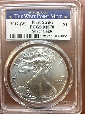 2017 W American Silver Eagle West Point First Strike PCGS MS-70