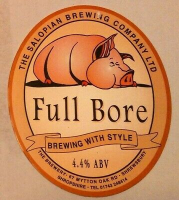 Beer pump clip badge front SALOPIAN brewery FULL BORE cask ale