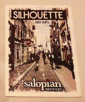 Beer pump clip badge front SALOPIAN brewery SILHOUETTE cask ale