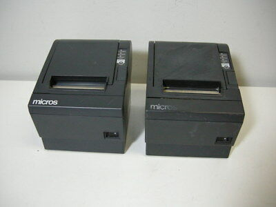Lot (2) Epson TM-T88III M129C POS Thermal Printer Serial Interface w/o Adapter
