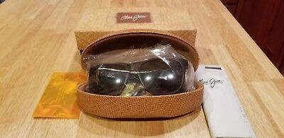 03d75f97b5404 New Maui Jim Sunglasses Tail Slide H740-10Cm Tortoise   Black  Bronze Lens