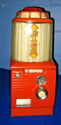 VTG. NORTHWESTERN 1cent COIN OPERATED GUM VENDING MACHINE ROTARY TOP EXCELLENT