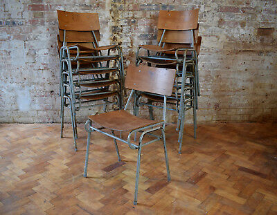 Vintage Ply Remploy Stacking Chairs Mid Century Cafe Chairs CAN DELIVER