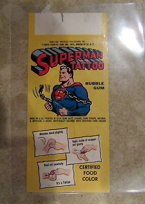 1962 Topps Bubble Gum Superman Tattoo Martian Manhunter Rare 1960s DC Premium