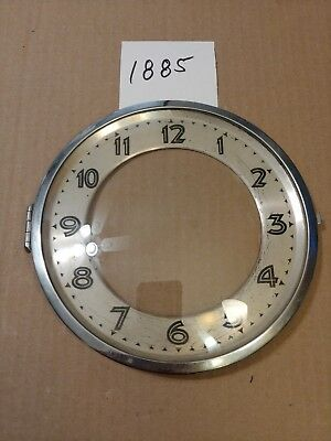 Antique German Clock Art Deco Dial & Bezel & Glass From Movement Marked  Zh