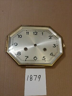 Vintage Hamburg American Art Deco Tambour Mantle Clock Dial & Bezel & Glass