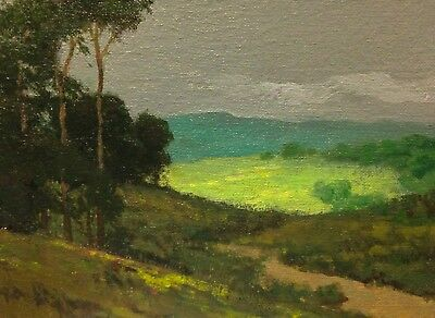 California Dreaming Eucalyptus Hill Landscape Art Oil Painting Impressionism New