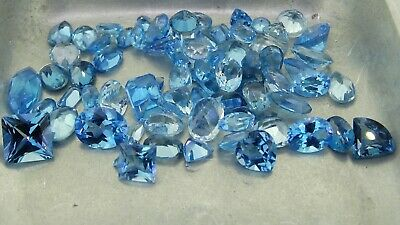 mixed Topaz 75.39ct natural loose gemstones