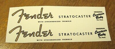 Fender Stratocaster Decal Headstock Waterslide Decals Vintage Guitar 1954 1963