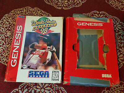 World Series Baseball 98 - Authentic - Sega Genesis - Case / Box Only!