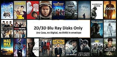 2D/3D Blu Ray Disc Only Lot (No Case)