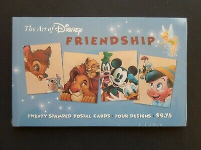Disney: Friendship Type Postcards Cat # UX407-UX410  Sealed 20 Pack 23 Cent