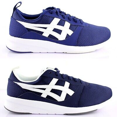 Asics Lyte Jogger Men's Sneakers Lace-Up Loafers Shoes Blue H7G1N