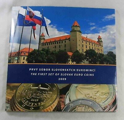 Slovakia 2009 The First Set of Slovak Euro Coins + includes Silver Token  (534