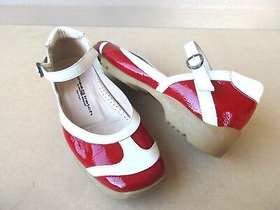 7ded1916b54 WALTER GENUIN WHITE RED WOMEN S GOLF SHOES EU 36.5 US 6.5 Patent leather