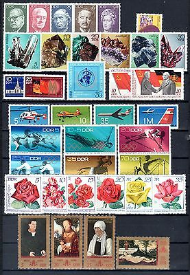 East-Germany/GDR/DDR: All stamps of 1972 in a year set complete, MNH